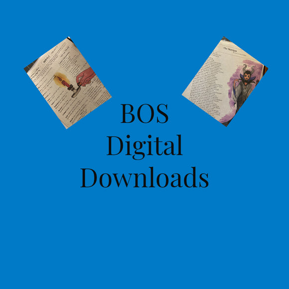Fairy Tale Book of Shadow Pages