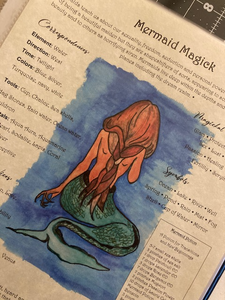 """Mermaid Magick"" Book of Shadows Page"