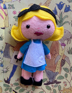 Alice Fairy Tale Inspired Poppet for Mental Health and/or Addiction Healing
