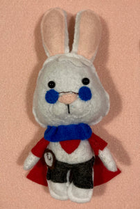 White Rabbit Poppet for Punctuality and Getting Things Done!
