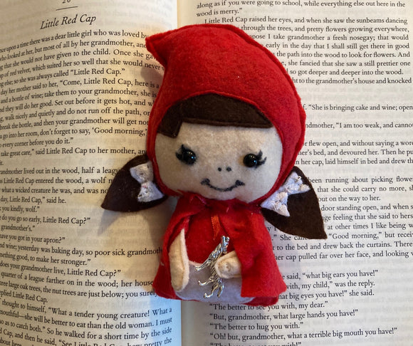 Red Riding Hood Fairy Tale Intention Poppet for Animal Spirit Communication