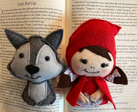Red Riding Hood & Wolf Fairy Tale Intention Poppets for Animal Spirit Communication
