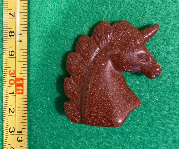Goldstone Unicorn Crystal