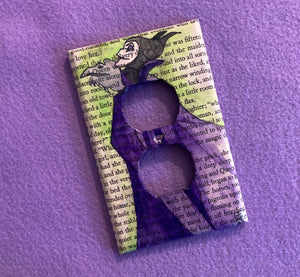 Fairy Tale Inspired Maleficent Plug Plate