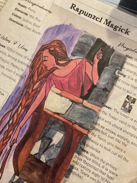 Rapunzel Fairy Tale Book of Shadows Page Download