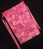 Romantic Pink Roses Tarot Bag