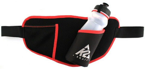 K2 FIT F.I.T. Skate Belt Nylon Inline Black Red With Water Bottle Key Clip NEW