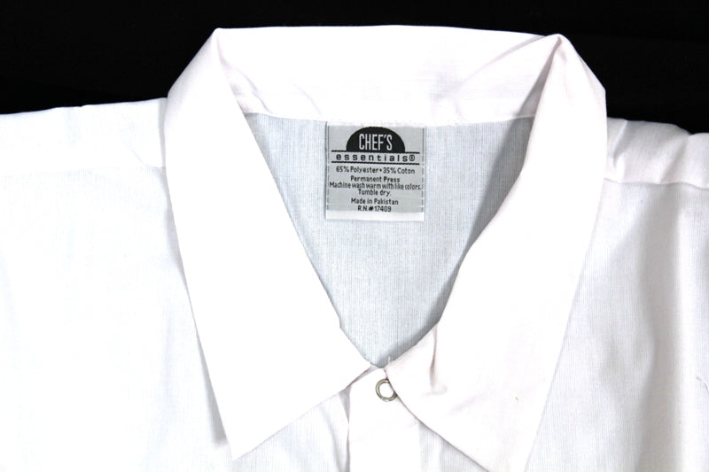 Professional Chef Chef's Shirt / Jacket White Cotton Blend Large Lg L NEW