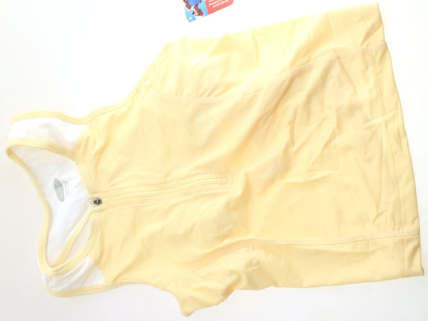 SPORTHILL ESSENTIAL Tank Sleeveless Women's Running Shirt Medium Med Yellow NWT