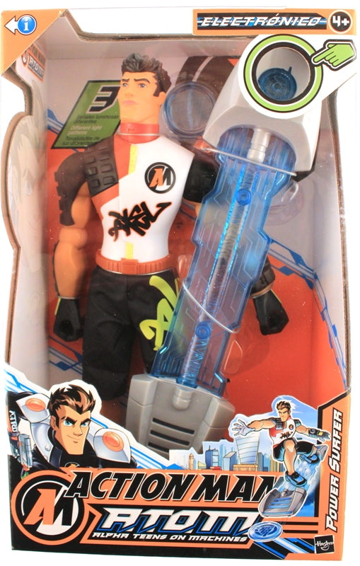 HASBRO ACTION MAN ATOM Figurine Toy Power Surfer Pulsing Lights NEW IN BOX