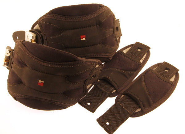 NIDECKER Snowboard Binding Parts Ankle Toe Ratcheting Straps M/L NEW