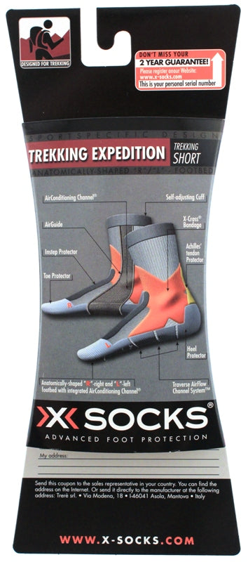 X-SOCKS TREKKING EXPEDITION MSRP $39 Compression US 6.5-8.5 EU 39 - 41 Black NEW