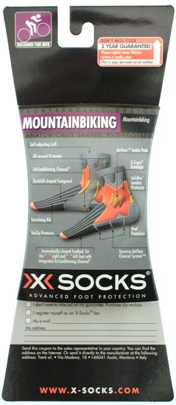 X-SOCKS MOUNTAIN BIKING MSRP $35 Short Sock US 3.5 - 6 EU 35 - 38 White NEW