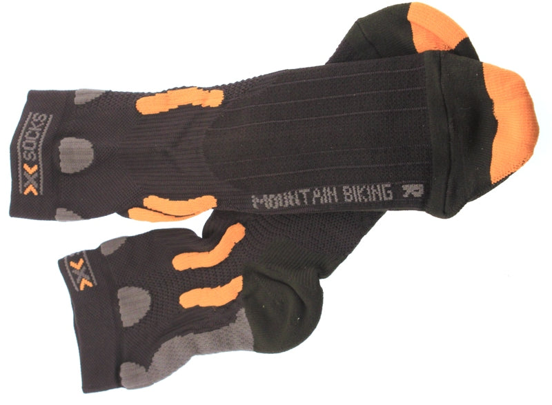 X-SOCKS MOUNTAIN BIKING MSRP $35 Short Sock US 3.5 - 6 EU 35 - 38 Black NEW