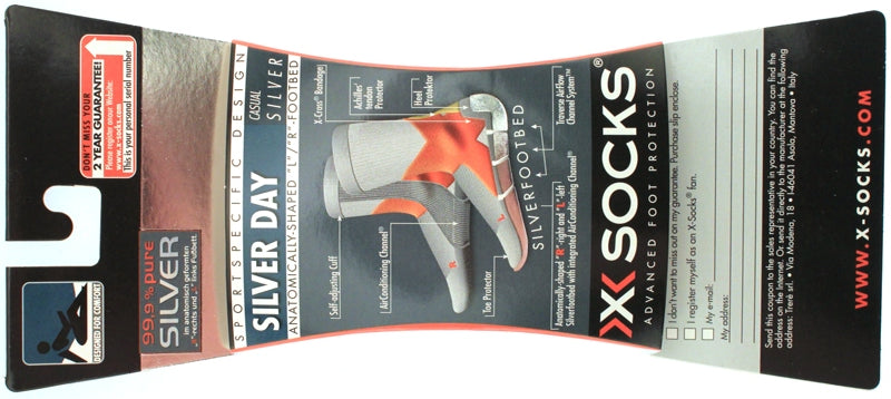 X-SOCKS SILVER DAY Running Casual MSRP $34 US 3.5 - 6 EU 35 - 38 Blue NEW