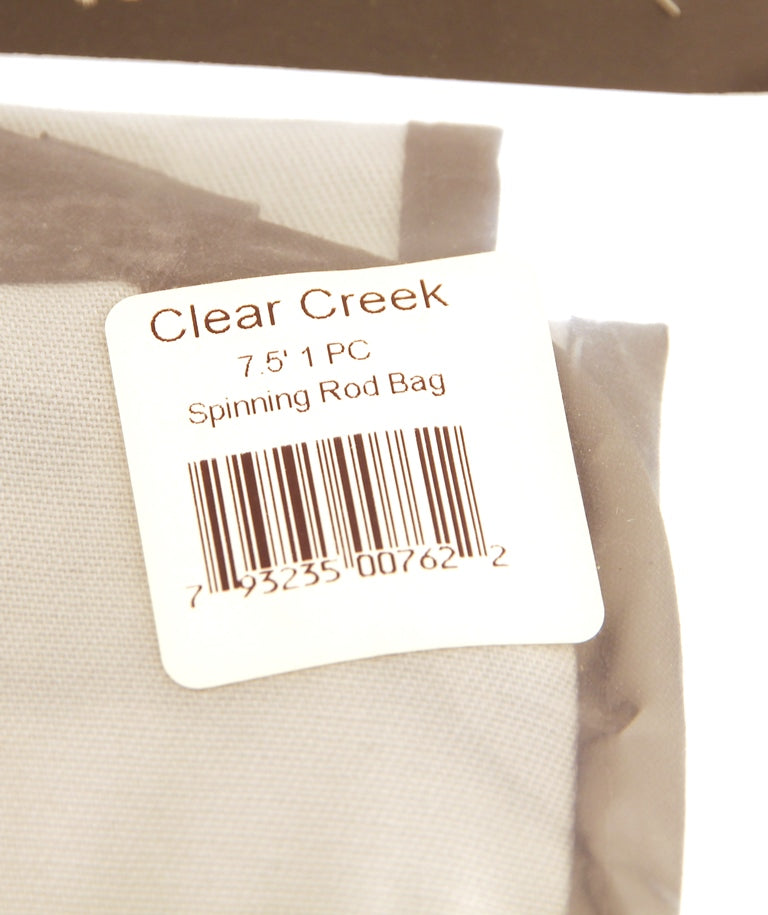 CLEAR CREEK Rod Bag Case  - 7.5' For 1 Piece Fly Fishing Rods New in Package
