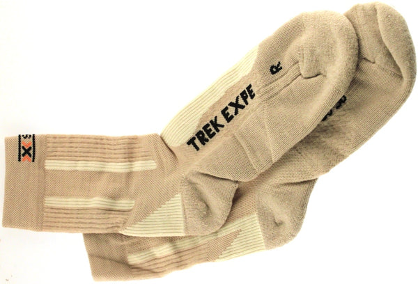 X-SOCKS TREKKING EXPEDITION MSRP $39 Compression US 3.5-6 EU 35 - 38 Sand NEW