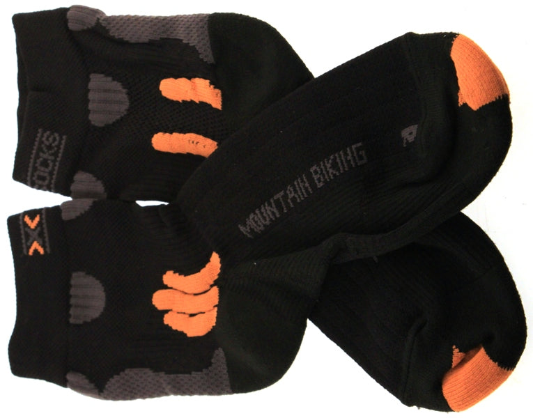 X-SOCKS MOUNTAIN BIKING MSRP $35 Short Sock 6.5-8.5 EU 39-41 Black NEW SAMPLE