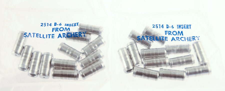2 dozen Satellite 2514 Arrow Glue-In Inserts 8-32 Threads Archery Bow NEW