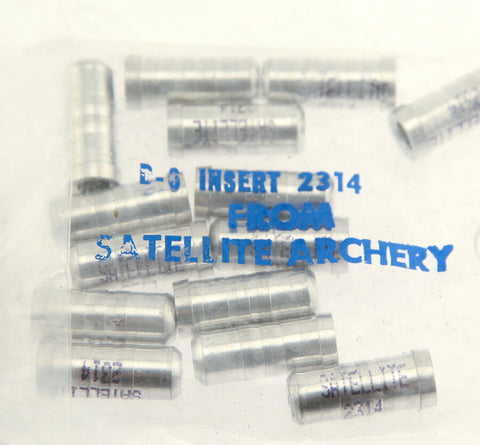2 dozen Satellite 2314 Arrow Glue-In Inserts 8-32 Threads Archery Bow NEW