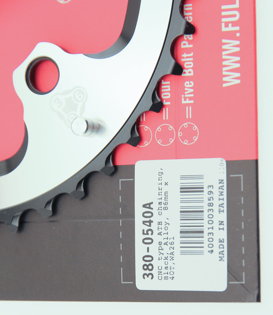 FSA 40T Afterburner 386 Chainring 9 Speed 86 BCD 3 Bolt Alloy MTB Bike NIB