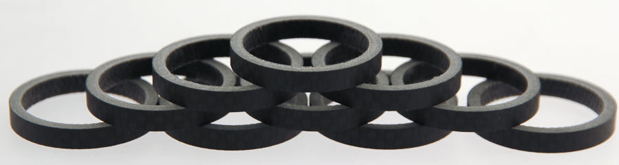 "FSA 10qty 5mm 1-1/8"" 3K Carbon Headset Spacers 50mm Total Road / MTB Bike NEW"