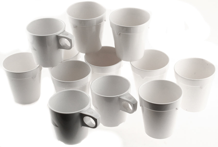 Swedish Military Water/Coffee Mugs 12pk Approx 10oz Plastic  Camping Durable New