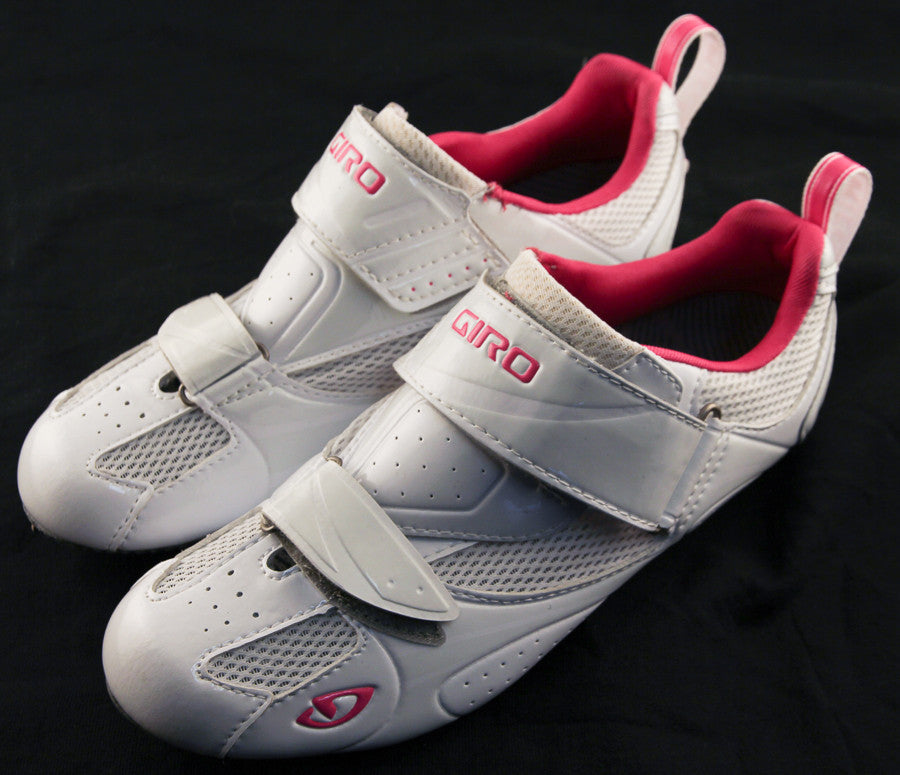 GIRO FACET TRI Women's Road Bike Cycling Shoes Carbon White/Pink NEW