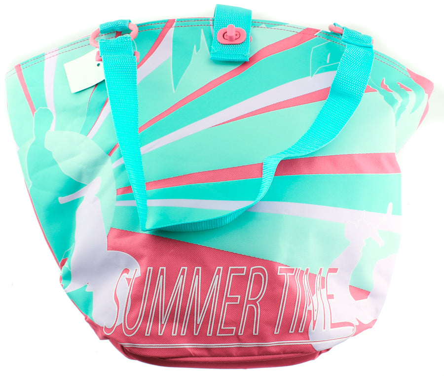 FASTRIDER SHOPPER SUMMERTIME Bike Pannier/Bag Aqua Palm 25L Water Resistant NEW