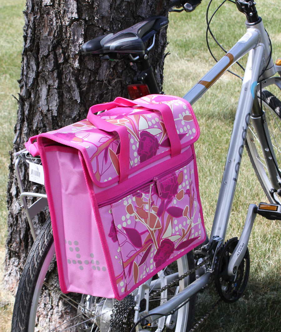 FASTRIDER SHOPPER PEONY Bike Pannier/Bag Pink 17.5L Water Resistant Single NEW