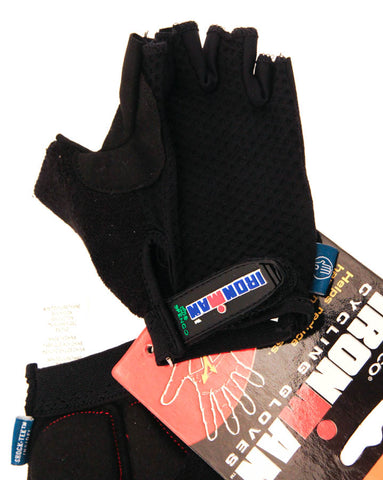 SPENCO IRONMAN TOUR X-Small Cycling Black Road Bike Half Finger Gloves NEW