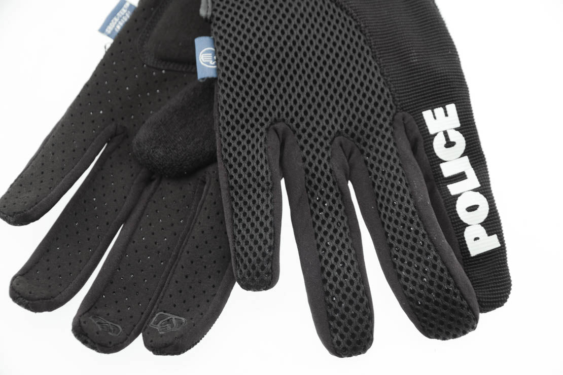 SPENCO POLICE X-Small Cycling Black Bike Padded Full Finger Gloves NEW