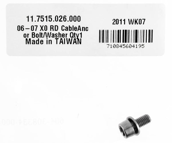 SRAM X0 Rear Derailleur Cable Anchor Bolt/Washer MTB Bike 11.7515.026.000 NEW