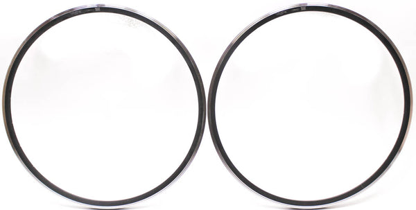 DRC SRL Rims Pair 622 x 13.90 Aluminum Alloy 700c Black 24 Hole Italian NEW