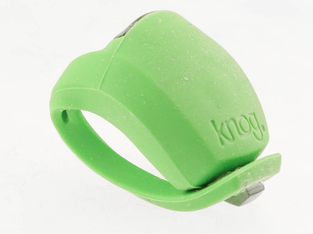 KNOG FROG Strobe Single RED LED Bike Rear Light Lime Silicone 2.5 Lumens NEW