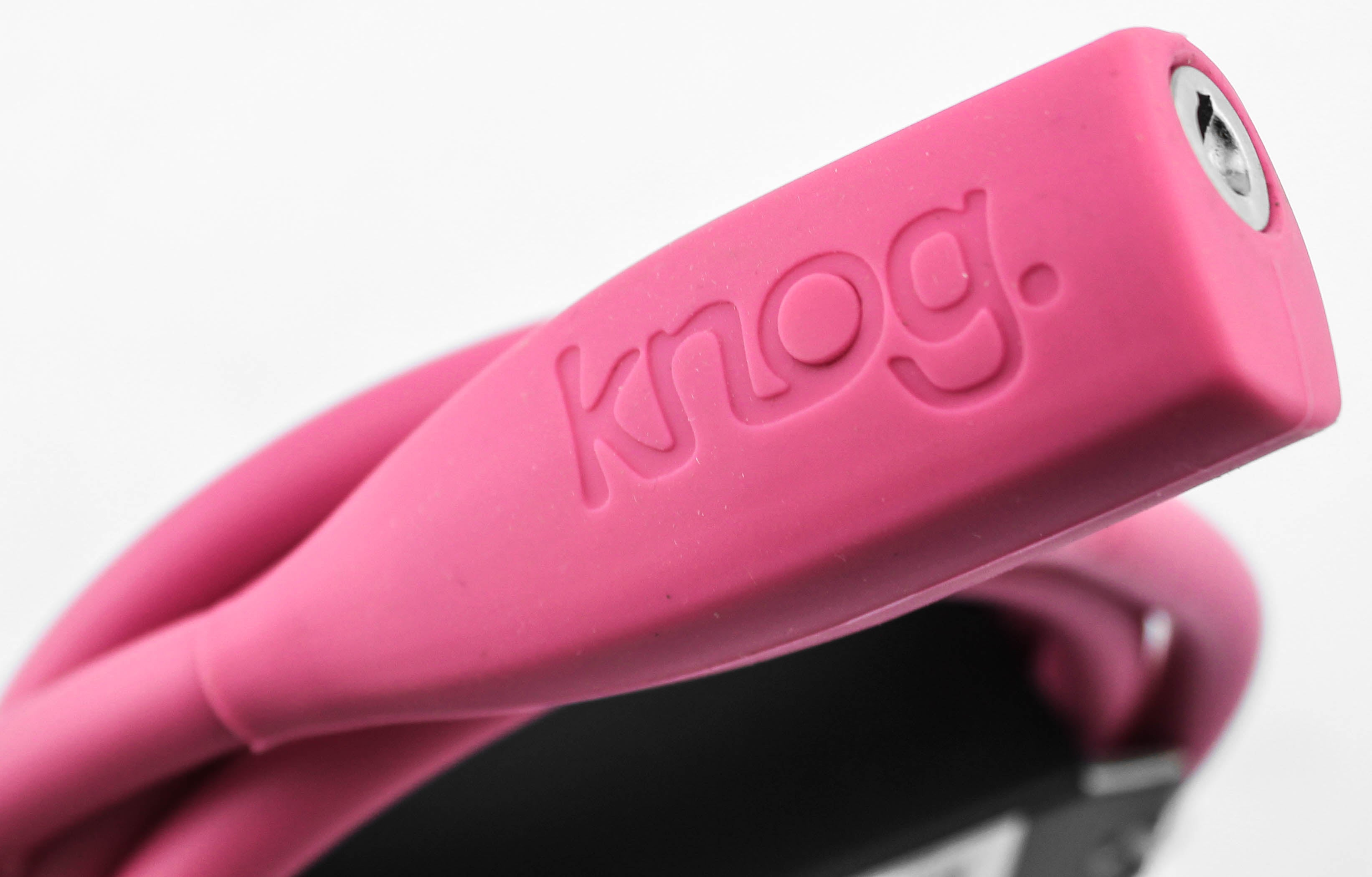 Knog Party Coil 1300mm Coiled Cable Bike Lock Braided Steel Rose Pink NEW