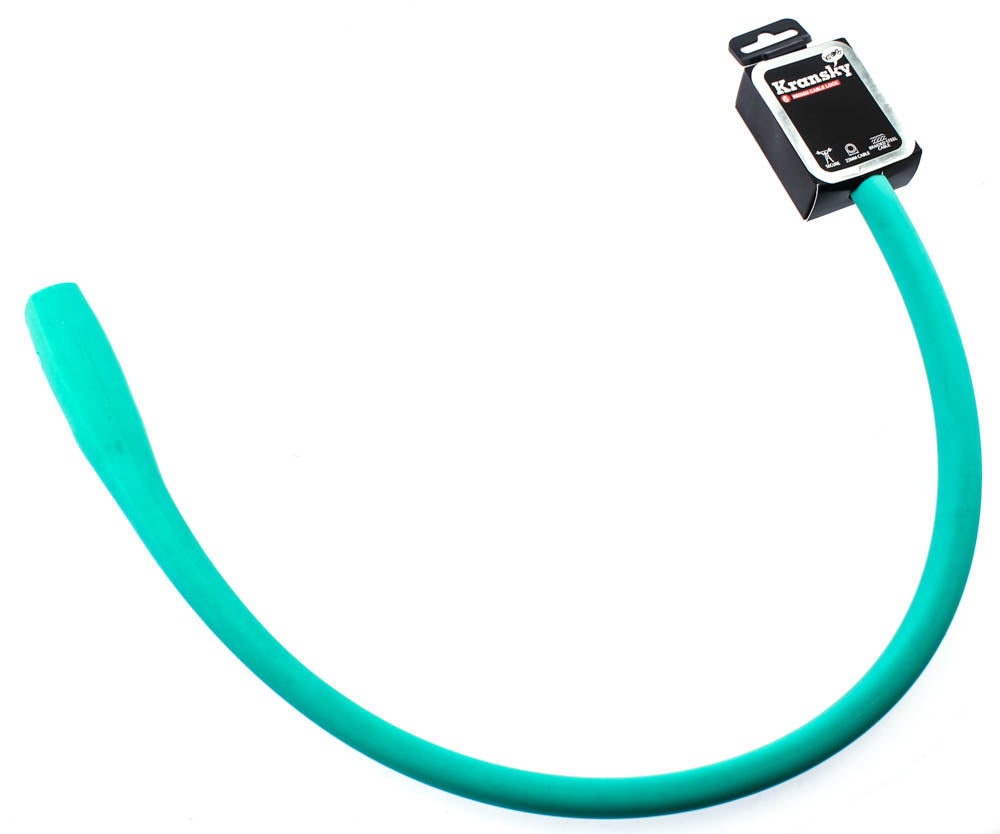 Knog Kransky 880mm Cable Bike Lock With Bracket Turquoise Silicone Steel New
