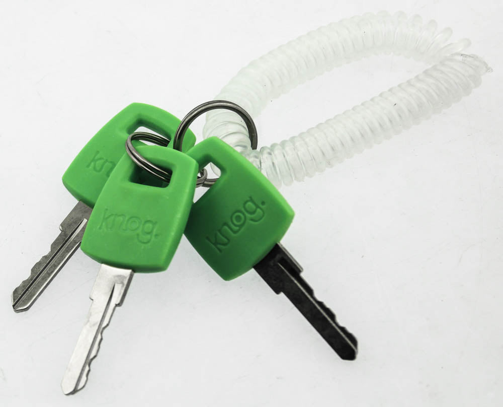 Knog Kabana Cable Bike Lock 740mm Lime Green Silicone Steel Cable Keyed New