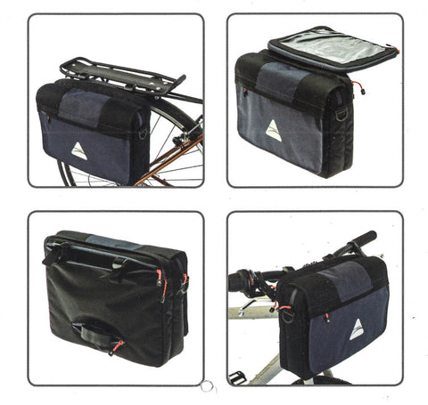 Axiom iTablet iPad Road / MTB Bike Handlebar or Pannier Bag + Shoulder Strap NEW