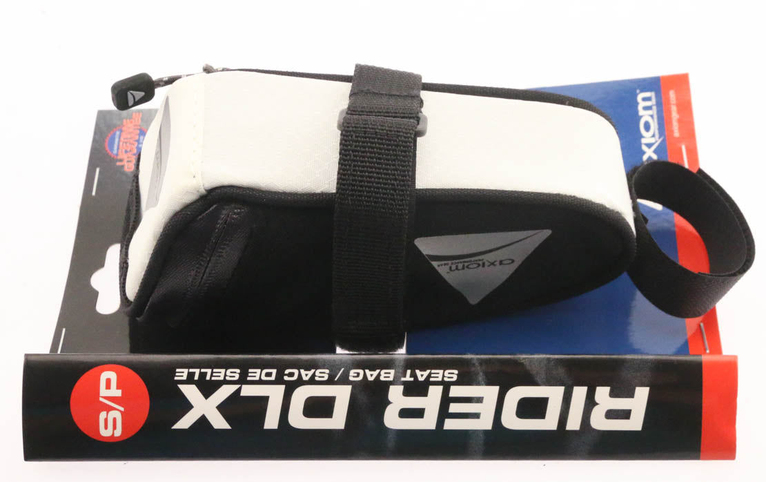5 QTY Axiom Rider DLX Road / MTB Bicycle Seat Saddle Bags Wht/Blk Small NEW