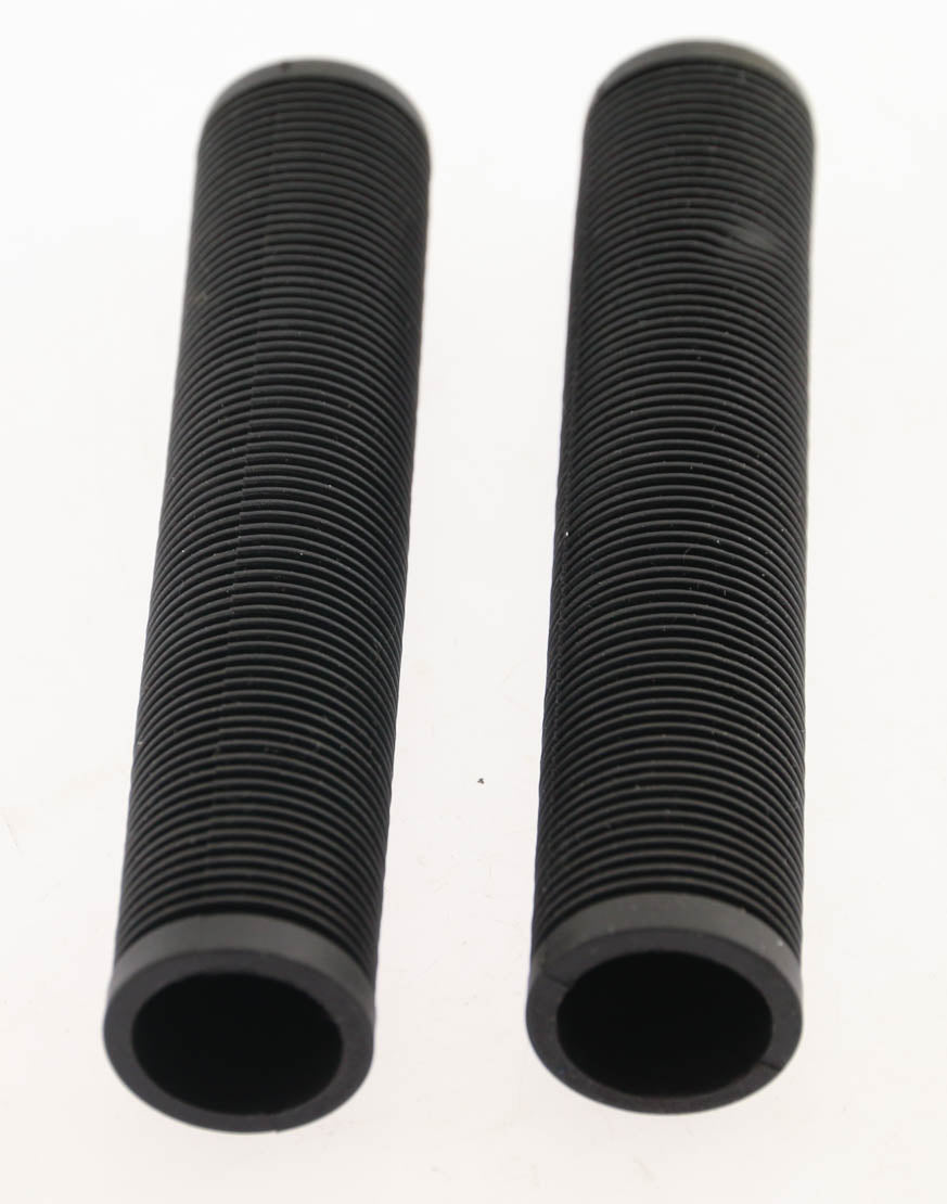 "BMX Mountain Hybrid Bike Flat Bar Rubber Grips 145mm / 5.7"" Black NEW"