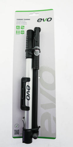 Evo Turbine Touring Frame Bike Tire Compact Pump Schrader/Presta Compatible NEW