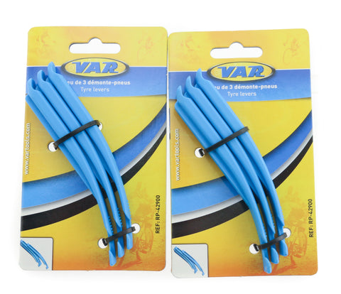 2 QTY of 3 VAR Road / Mountain Bike Tire Lever Sets Fiberglass / Nylon NEW