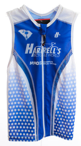 HINCAPIE FLUID Men's Triathlon Top XS Cycling Sleeveless Jersey Blue/White NEW