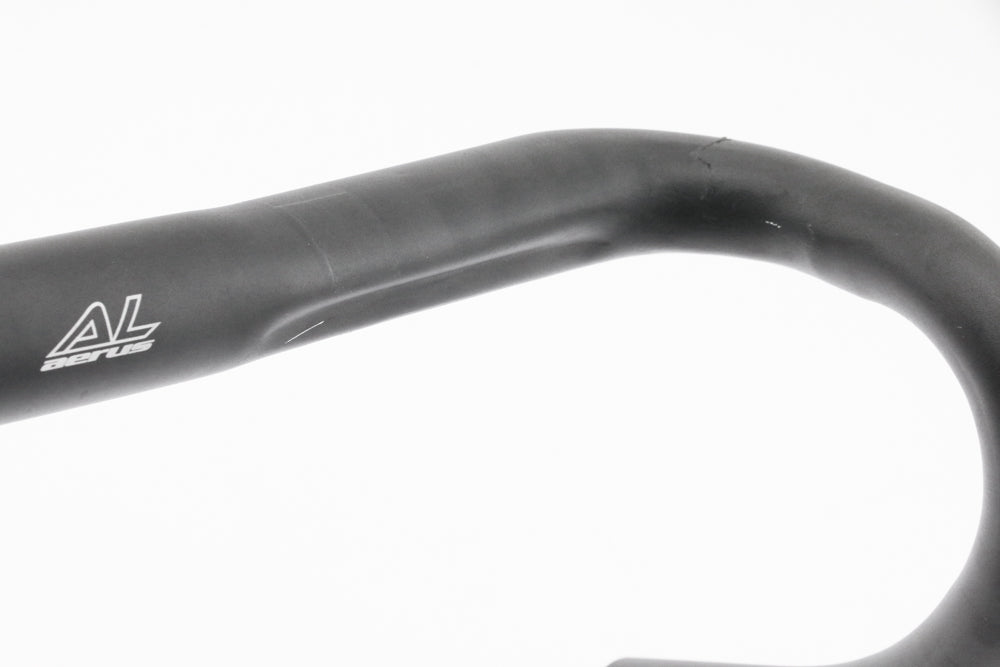 Aerus Alloy Drop Curled Road Bike Handlebar 31.8mm x 420mm Black New Take Off