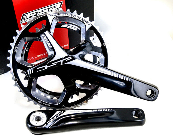 FSA Gossamer Pro BB386 EVO ABS Cyclocross Bike Crankset 46/36T 172.5 N10/11s NEW