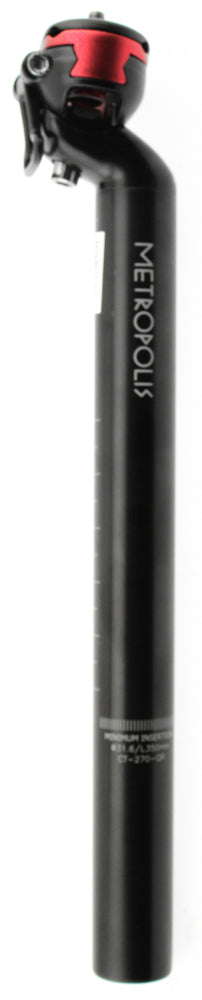 FSA METROPOLIS SB20 Bike Seatpost 31.6mm X 350mm Quick Release Black Alloy NEW