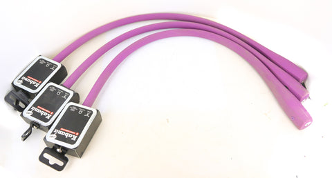 3 QTY Knog Kabana Cable Bike Locks 740mm Grape Purple Silicone Steel Cables New