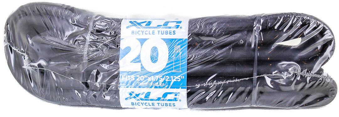 "2 QTY XLC 20x1.75/2.125"" 35mm Schrader Valve Thorn Resistant Wrap Bike Tubes NEW"