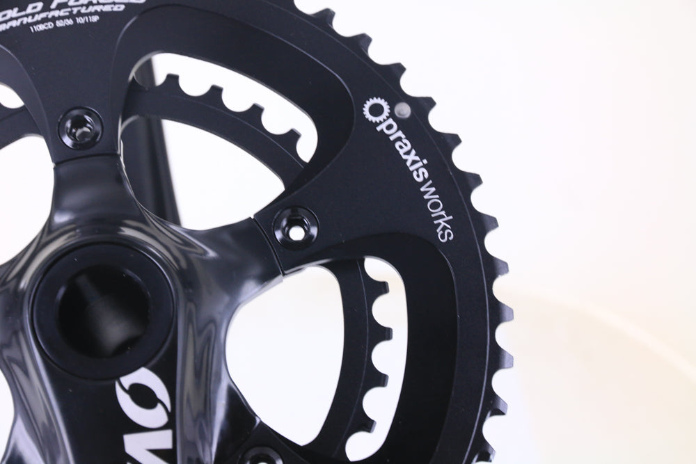 Oval Concepts 500 Praxis M30 52/36T 172.5mm Road Bike Crankset 10/11s + BB NEW